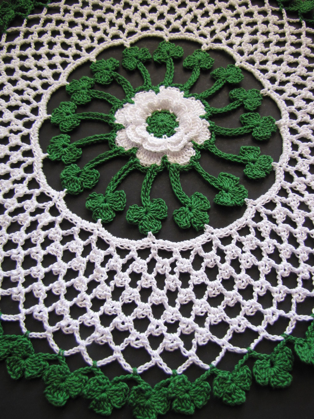 Irish Blessings Crochet Doily   AllFreeCrochet.com