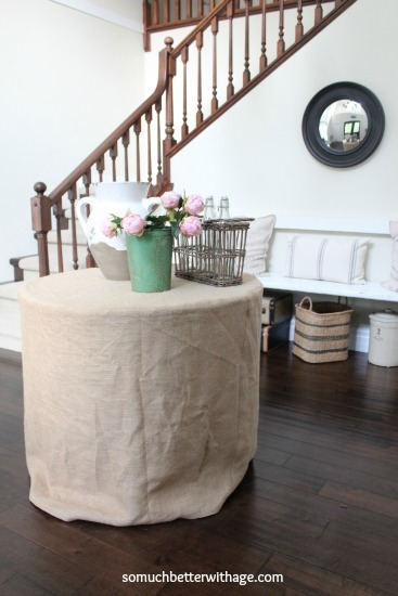 Charming How To Make A Round Tablecloth
