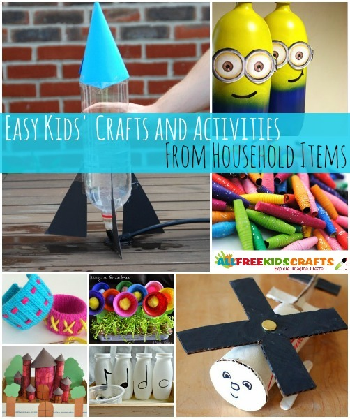 50 kids activities and easy kids crafts from household for Fun diy projects with household items