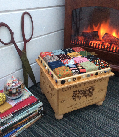 Recycled Wine Crate Foot Stool DIY Home Decor
