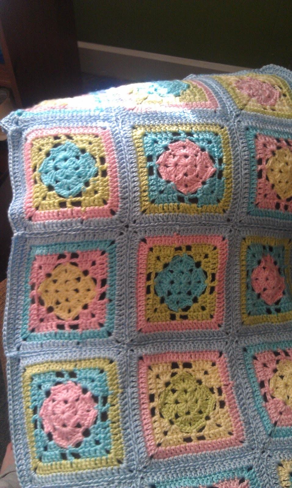 Spring Fling Granny Square Blanket | AllFreeCrochet.com