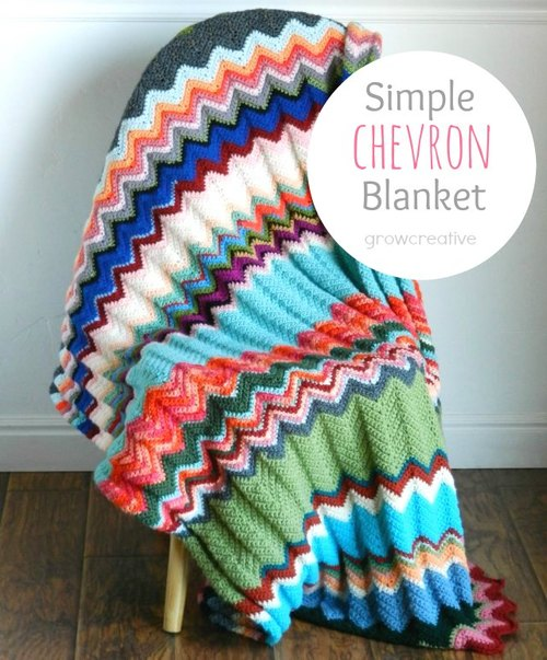 Simple Chevron Blanket Allfreecrochet
