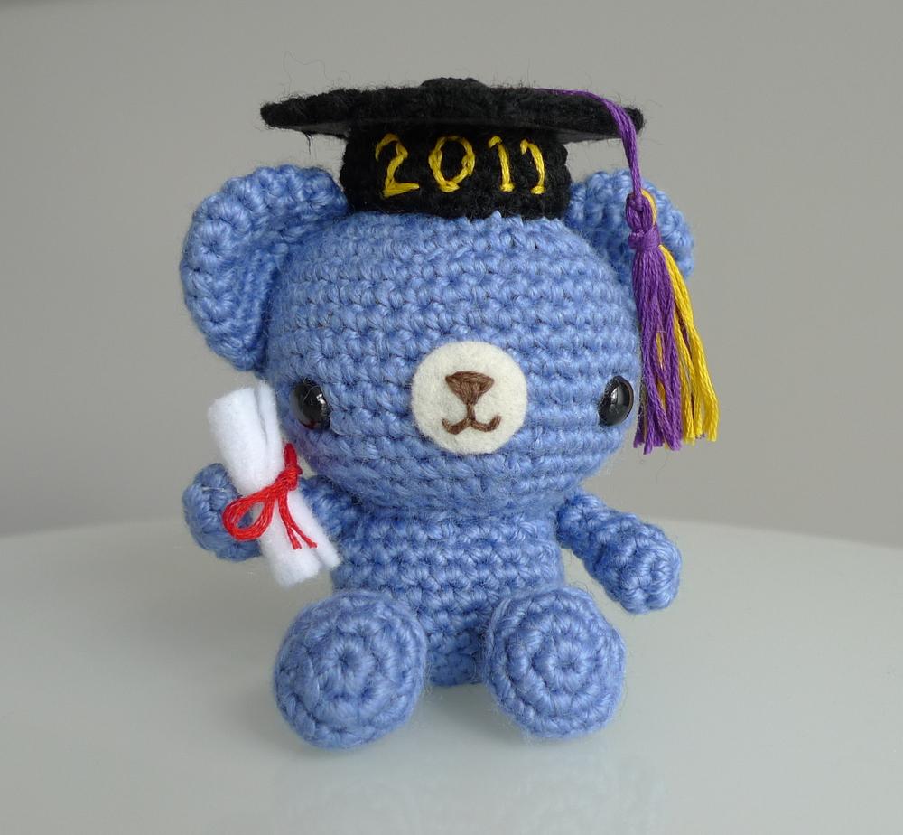 Graduation Teddy Crochet Pattern AllFreeCrochet.com