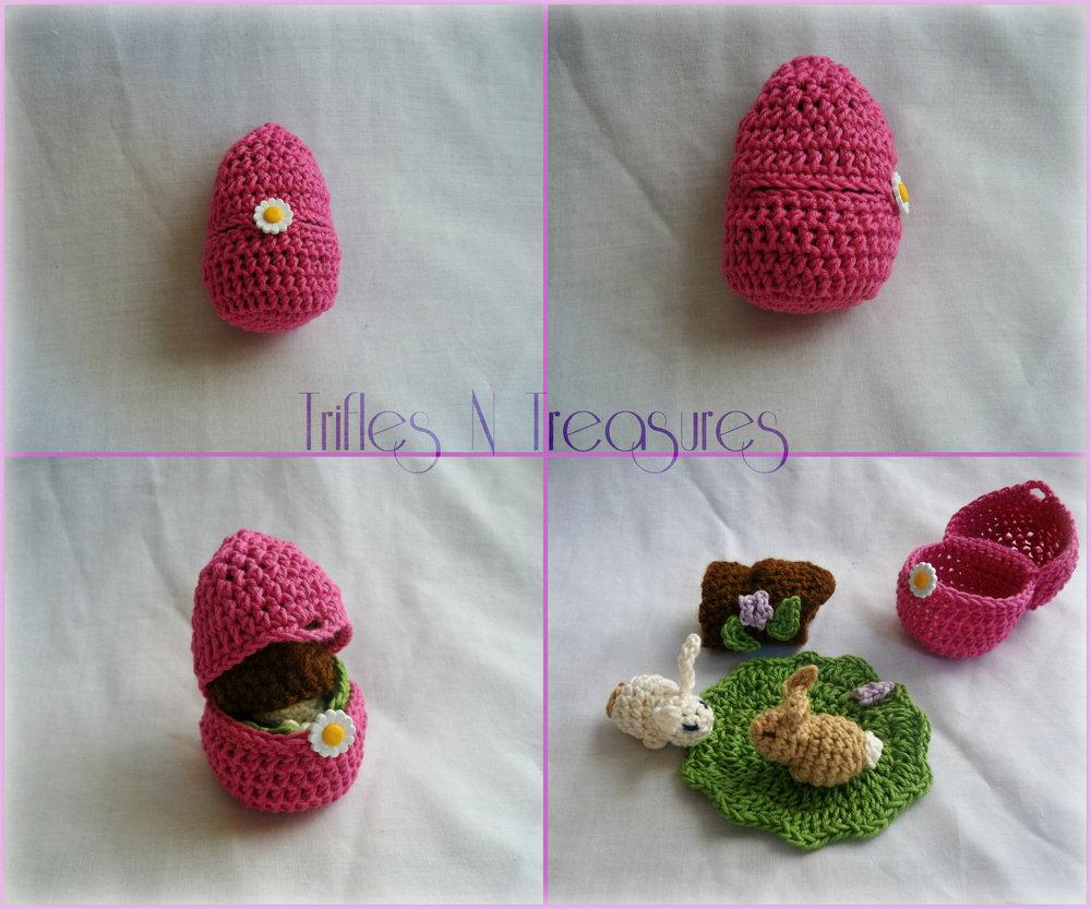 Easter Crochet Patterns For Beginners : Crochet Easter Bunny Playset AllFreeCrochet.com
