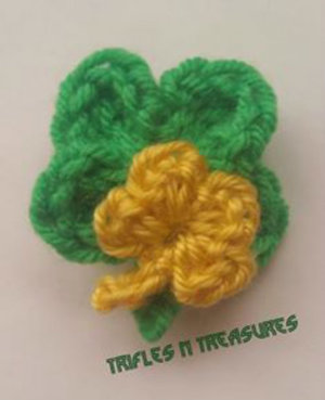 Lucky Charm Crochet Pin