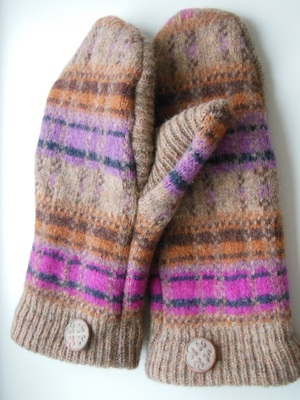 Recycled Sweater Mitten Pattern