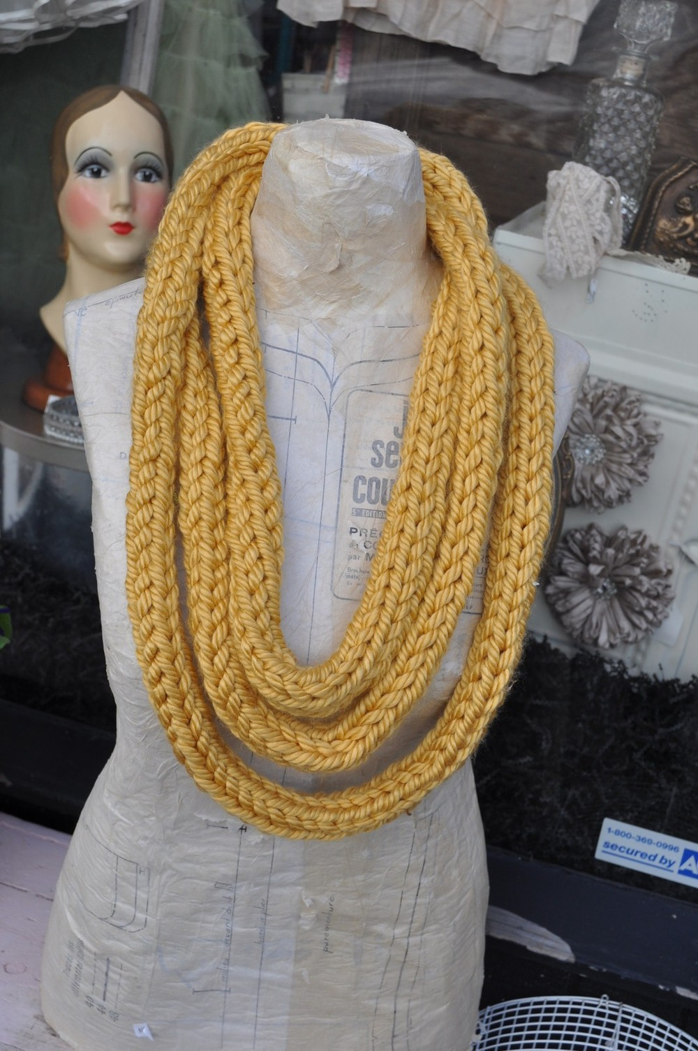 Hand Knitted Infinity Scarf | FaveCrafts.com