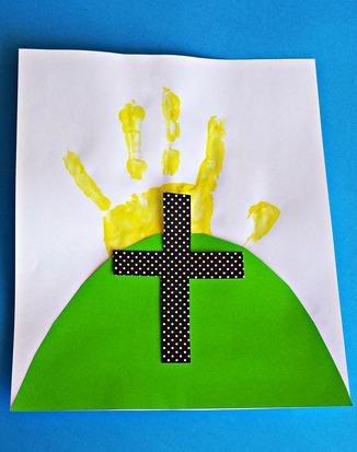 Easter Cross Handprint Art Allfreekidscrafts Com