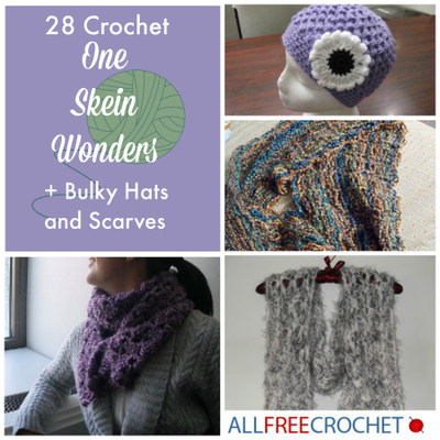 28 Crochet One Skein Wonders  Bulky Crochet Hats