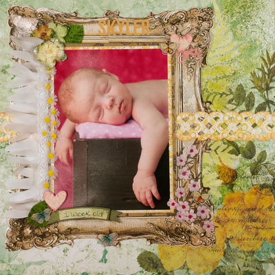 Precious New Baby Scrapbook Layout