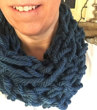 30 Minute Arm Knitted Scarf Favecrafts