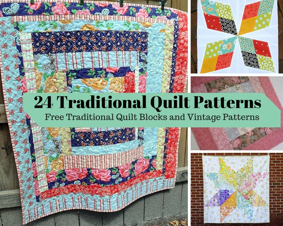 Traditional Hand Quilting Patterns : 24 Traditional Quilt Patterns: Free Traditional Quilt Blocks and Vintage Patterns FaveQuilts.com