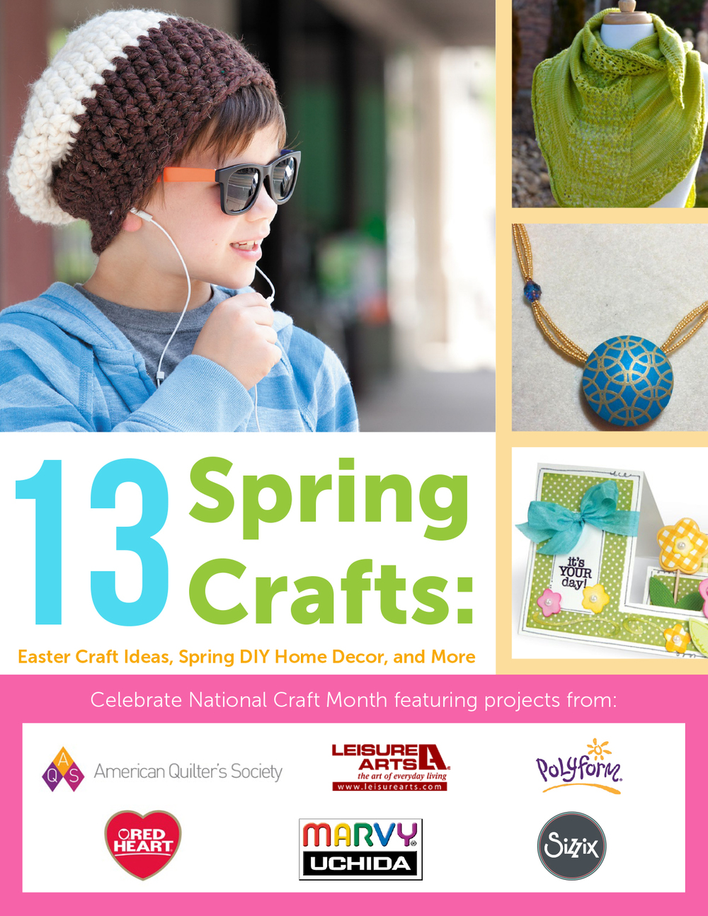 13 Spring Crafts: Easter Craft Ideas, Spring DIY Home ...
