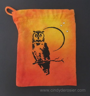 Easy Tie Dye Owl Bag