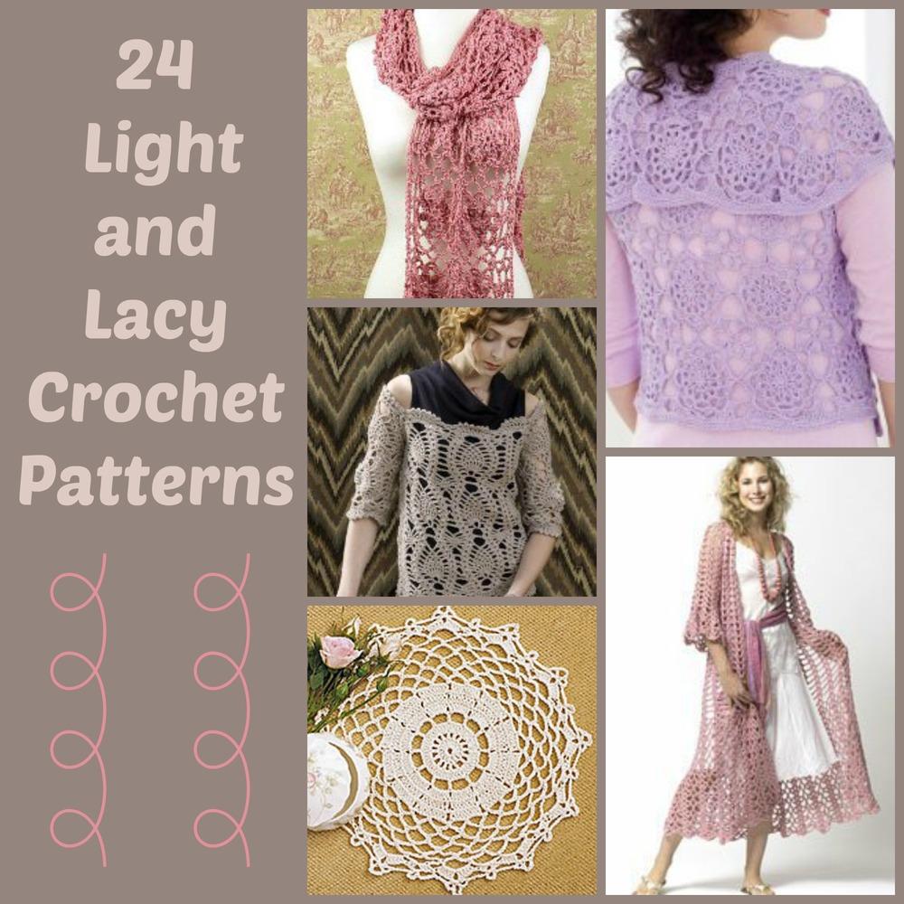24 Light and Lacy Crochet Patterns   AllFreeCrochet.com