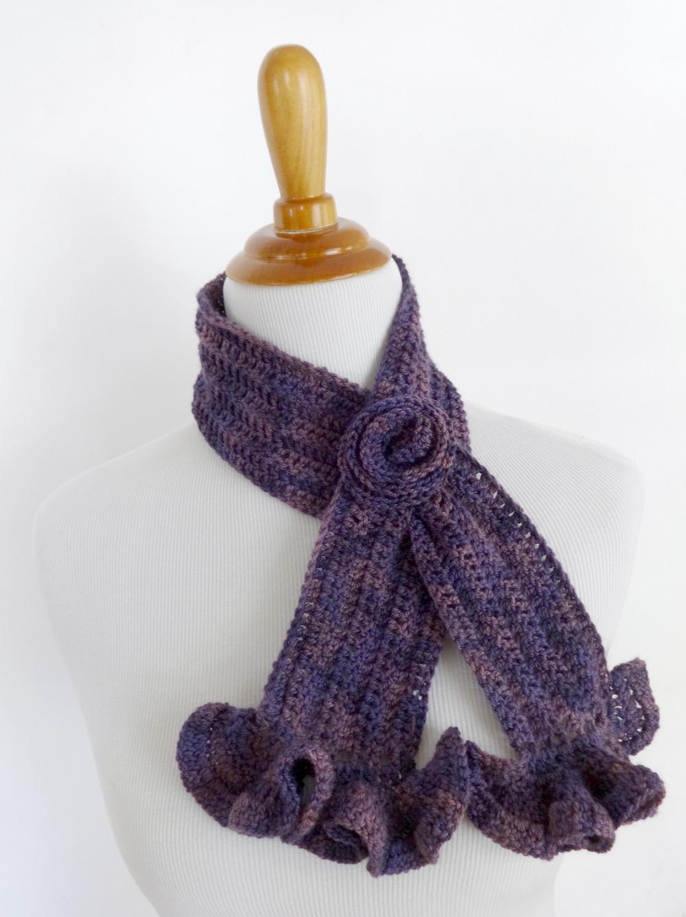 Vintage Blossom Crochet Scarf   AllFreeCrochet.com