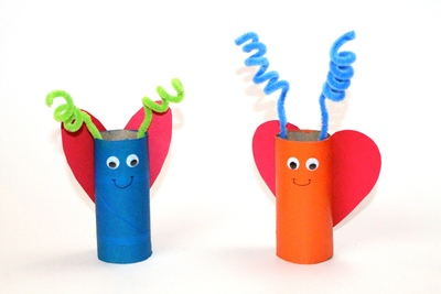 Colorful Ladybugs Toilet Paper Roll Craft