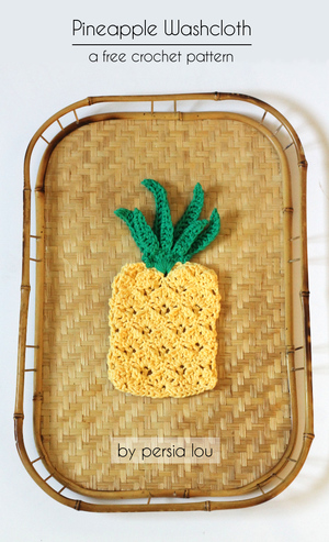 Pretty Pineapple Dishcloth