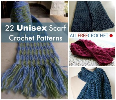 22 Unisex Scarf Crochet Patterns
