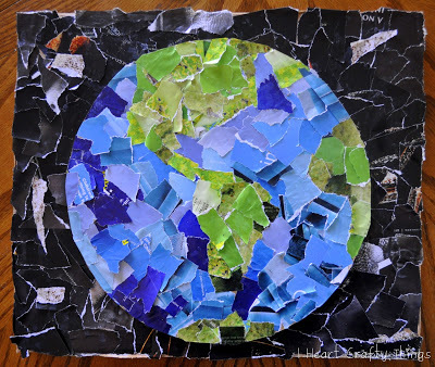 Easy Earth Day Collage Allfreekidscrafts Com