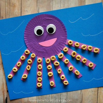 Cupcake Liner Octopus Craft