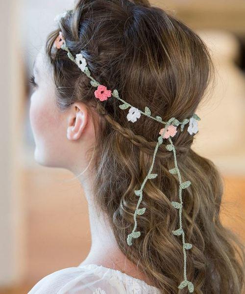Floral Crochet Headband Pattern   AllFreeDIYWeddings.com