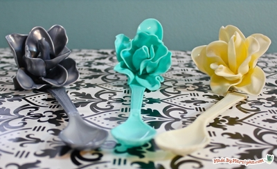 Plastic Spoon Roses DIY Recycled Craft