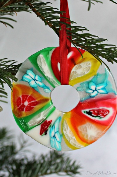 melted candy christmas ornament craft - Candy Christmas Ornaments