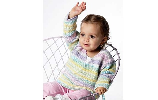 Beginner Knit Baby Kimono Allfreeknitting