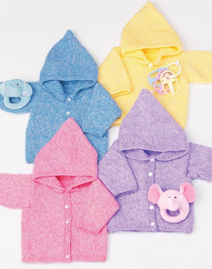 Simple Baby Hoodies AllFreeKnitting Impressive Free Knitting Patterns For Baby Sweaters