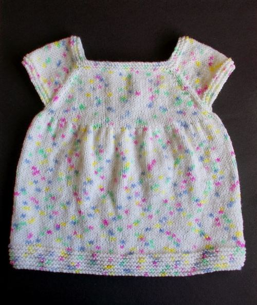 Confetti Cake Baby Dress Allfreeknitting Com