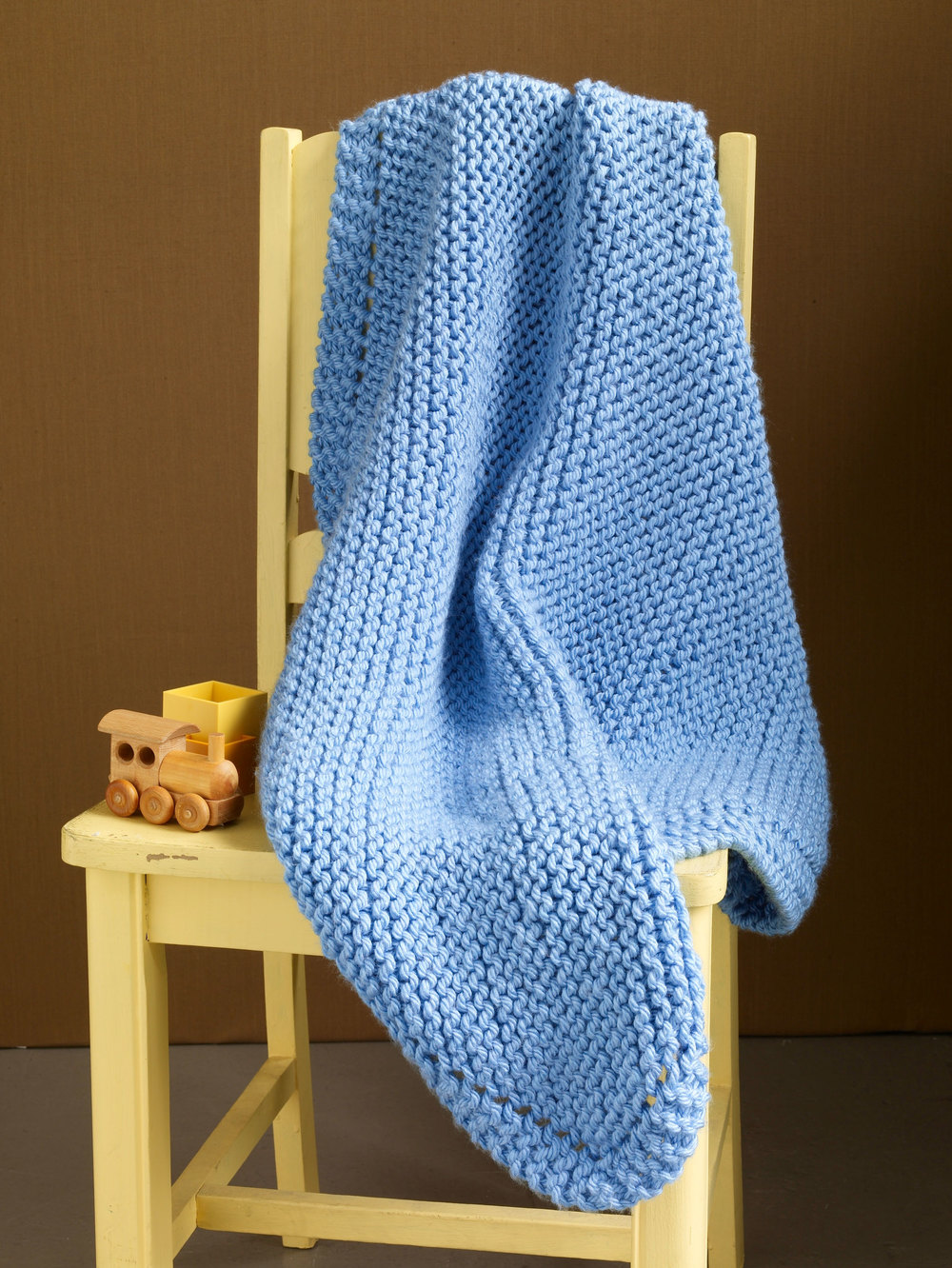 Easy Baby Blanket Knitting Patterns For Beginners : Still River Baby Blanket AllFreeKnitting.com