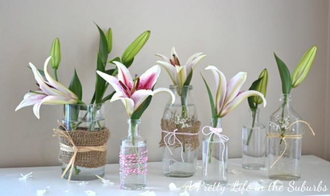Refashioned Mason Jar Flower Vases Allfreeholidaycrafts