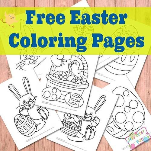 Egg-citing Easter Coloring Pages