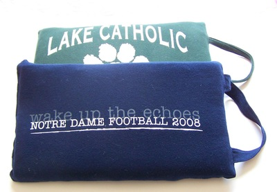 Upcycled T-Shirt Into Stadium Cushion
