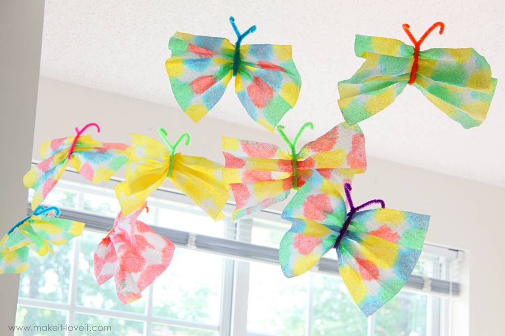 Paper towel butterflies for Butterflies for crafts and decoration