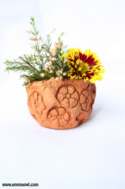 Salt Dough Flower Pot