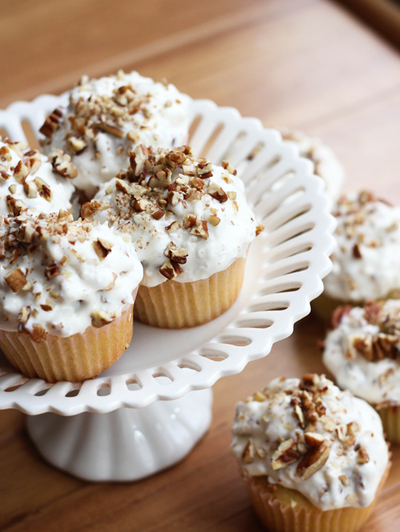 Pioneer Woman-Inspired Italian Cream Cupcakes