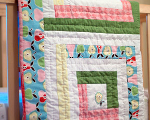 Pretty Pastels Log Cabin Baby Quilt