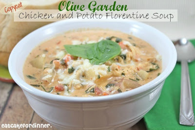 Copycat Olive Garden Chicken and Potato Florentine Soup