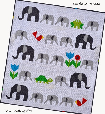 Elephant Parade Baby Quilt Pattern | FaveQuilts.com : elephant quilt patterns - Adamdwight.com