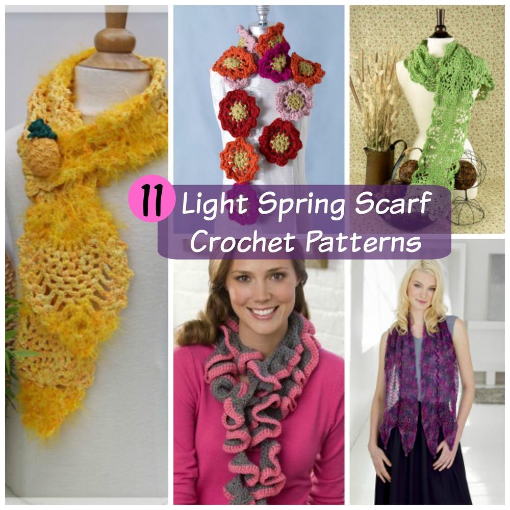 11 Light Spring Scarf Crochet Patterns | FaveCrafts.com