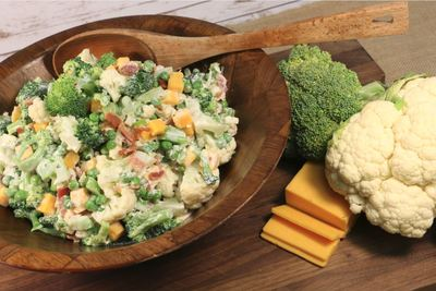 Lighter Cheddar Broccoli Salad
