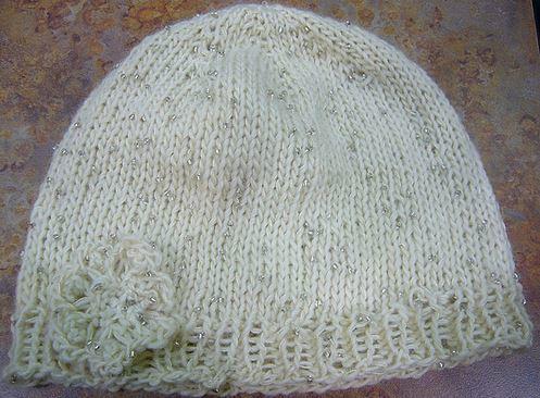 Iris Knit Hat + Flower Pattern | AllFreeKnitting.com