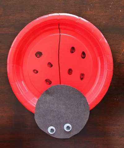 Ladybug Paper Plate Craft : paper plate lady bug - pezcame.com