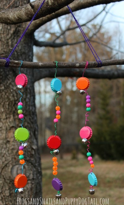 Bottle Cap DIY Wind Chimes