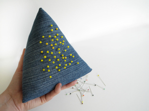 Scrappy Denim Free Pincushion Pattern