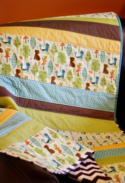 Straight Line Baby Quilt Patterns Favequilts