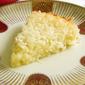 Self-Crust Coconut Pie