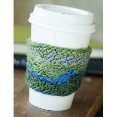 Cable Coffee Cozy Easy Knitting Pattern | FaveCrafts.com